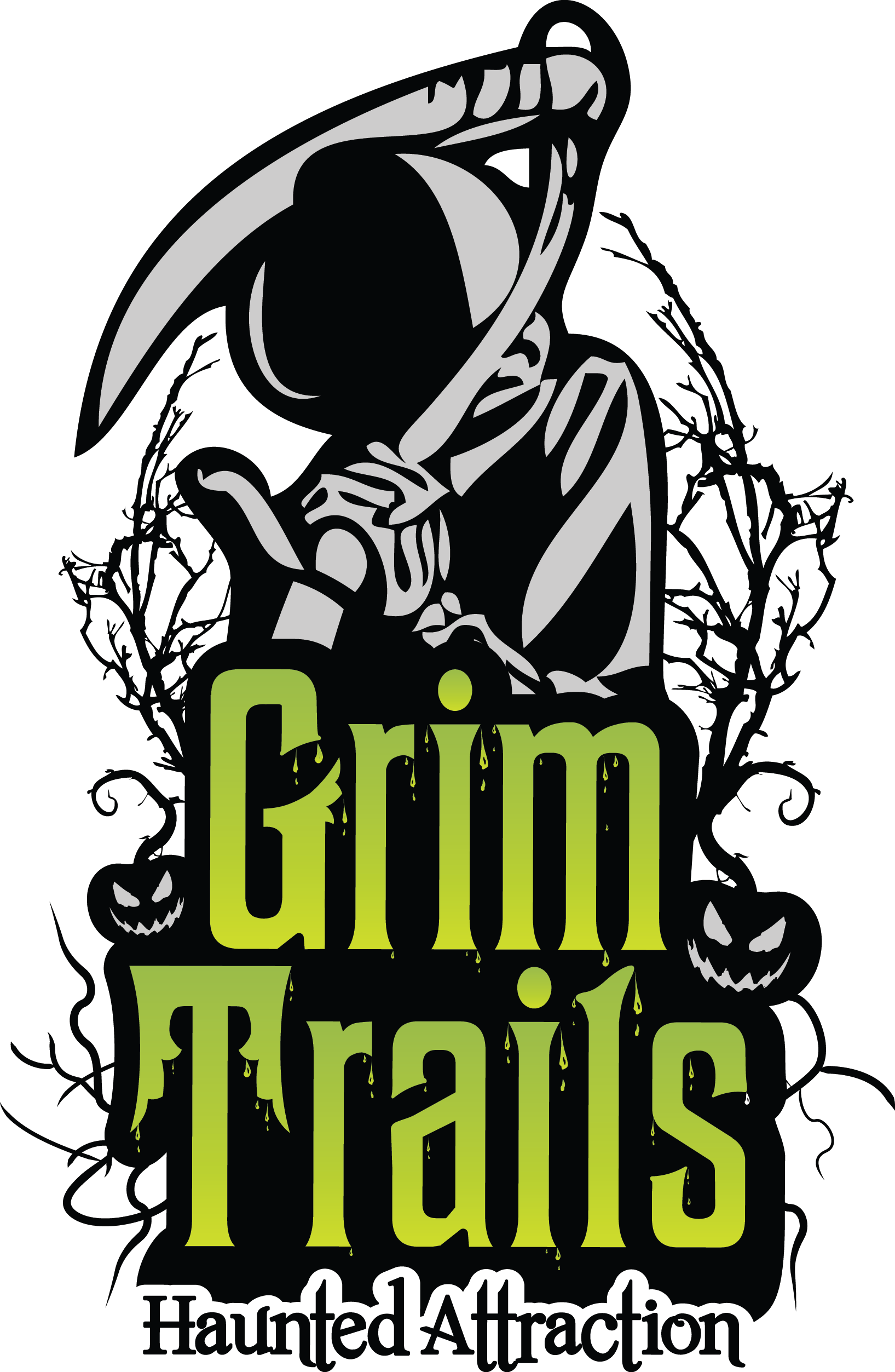 Grim Trails Haunted House Logo